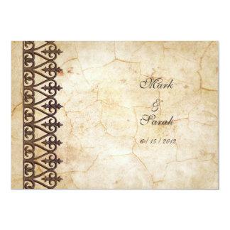 Invitación del boda de la colección del pergamino invitación 12,7 x 17,8 cm
