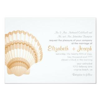 Invitación del boda de la elegancia de la costa