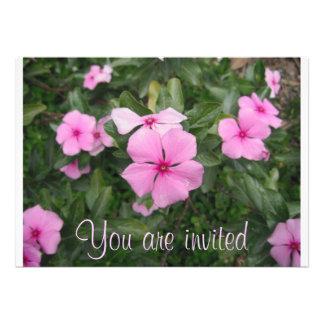 Invitación del boda de la flor