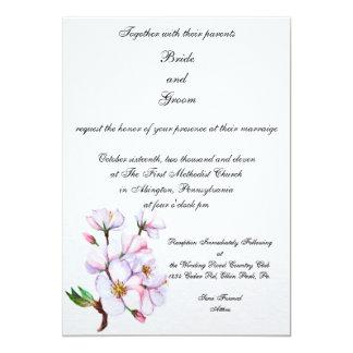 Invitación del boda de la flor de cerezo de