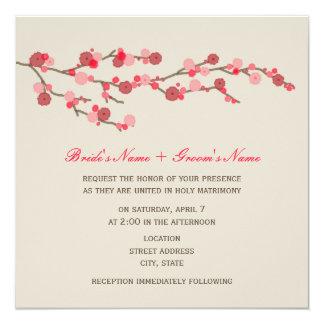 Invitación del boda de la flor de cerezo de la