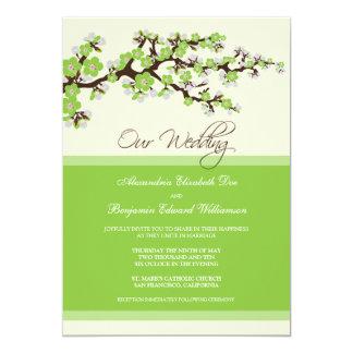 Invitación del boda de la flor de cerezo (manzana