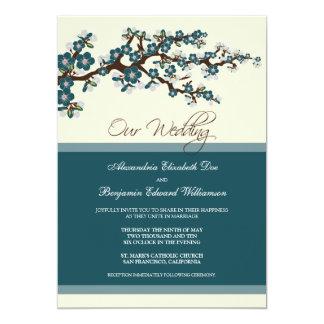 Invitación del boda de la flor de cerezo (trullo)