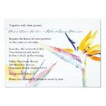 Invitación del boda de la flor de la ave del invitación 12,7 x 17,8 cm