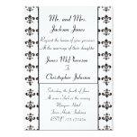 Invitación del boda de la flor de lis