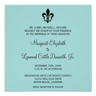 Invitación del boda de la flor de lis invitación 13,3 cm x 13,3cm