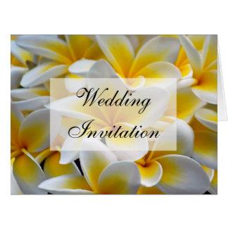 Invitación del boda de la flor del Frangipani Tarjeta De Felicitación Grande