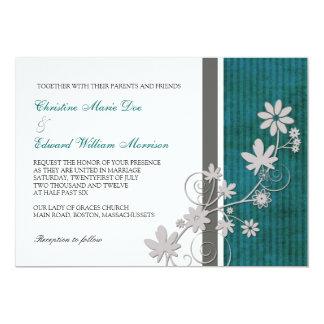Invitación del boda de la flor del trullo y del