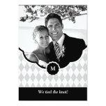 Invitación del boda de la foto del monograma del
