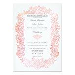 Invitación del boda de la frontera de los pájaros invitación 12,7 x 17,8 cm