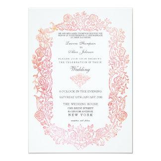 Invitación del boda de la frontera de los pájaros