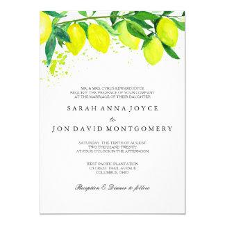 Invitación del boda de la fruta cítrica/del limón