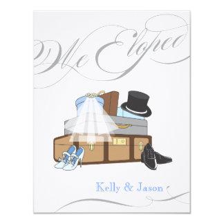 Invitación del boda de la fuga - azul