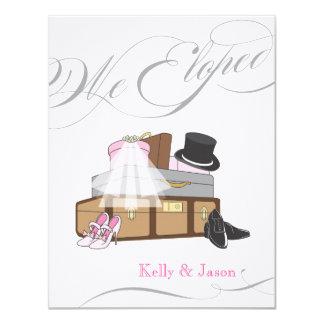 Invitación del boda de la fuga - rosa