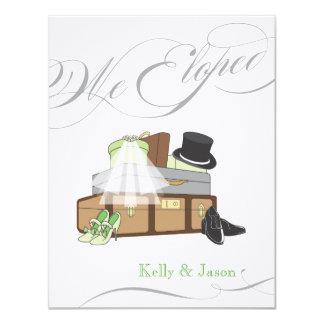 Invitación del boda de la fuga - verde
