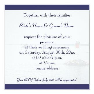 invitación del boda de la gaviota del vuelo