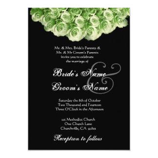 Invitación del boda de la guirnalda del rosa de