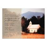 Invitación del boda de la iglesia de la montaña