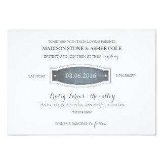 Invitación del boda de la insignia de la pizarra