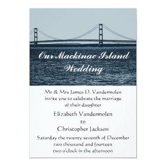 Invitación del boda de la isla de Mackinac Invitación 12,7 X 17,8 Cm