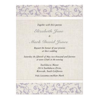 Invitación del boda de la lavanda de SmartElegance