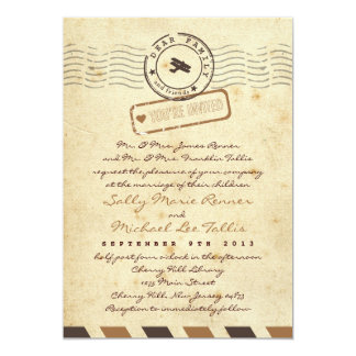 Invitación del boda de la letra de amor del correo