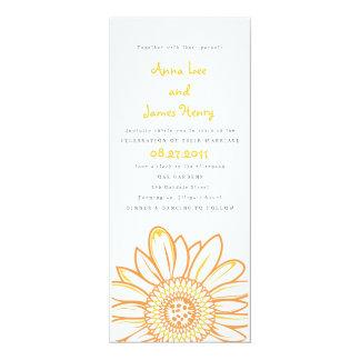 Invitación del boda de la longitud del té del