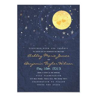 Invitación del boda de la Luna Llena de la noche