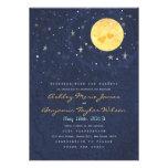 Invitación del boda de la Luna Llena de la noche e