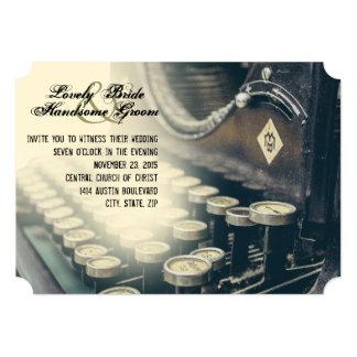 Invitación del boda de la máquina de escribir del