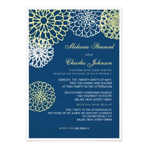 Invitación del boda de la marina de guerra