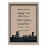 Invitación del boda de la marina de guerra del invitación 12,7 x 17,8 cm