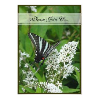 Invitación del boda de la mariposa de Swallowtail