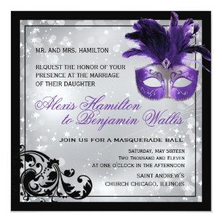 Invitación del boda de la mascarada