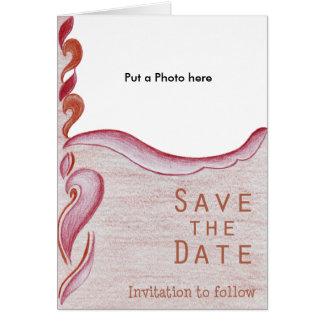 Invitación del boda de la materia de la decoración felicitaciones