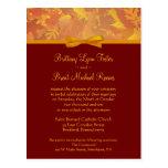 Invitación del boda de la muestra - hojas de otoño postal