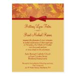 Invitación del boda de la muestra - hojas de otoño postales