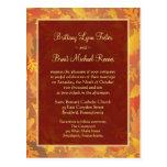 Invitación del boda de la muestra - marco de la postal