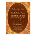Invitación del boda de la muestra - niebla del oto postales