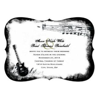 Invitación del boda de la música áspera de la