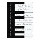 Invitación del boda de la música del teclado de invitación 12,7 x 17,8 cm
