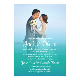 Invitación del boda de la niebla del océano