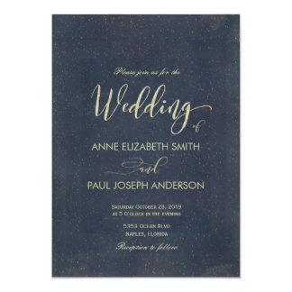 Invitación del boda de la noche estrellada