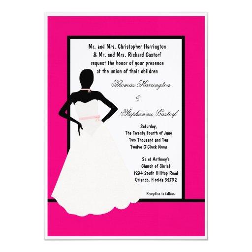 invitación del boda de la novia de las rosas