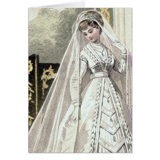 Invitación del boda de la novia del Victorian Tarjeta De Felicitación
