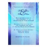 Invitación del boda de la orquídea azul