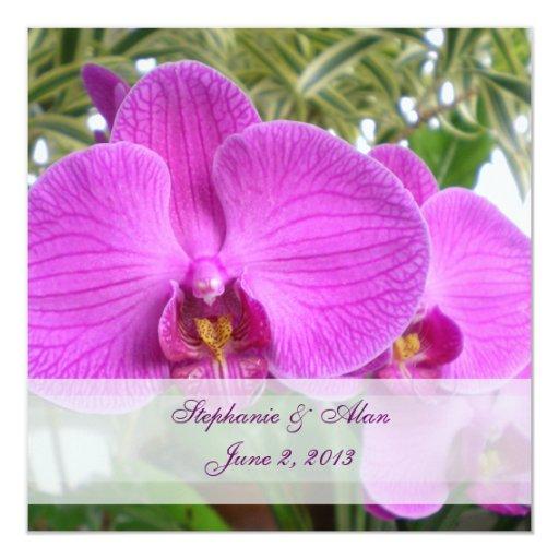 Invitación del boda de la orquídea de las rosas