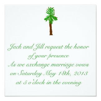 Invitación del boda de la palmera