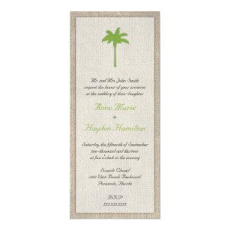 Invitación del boda de la palmera y de la