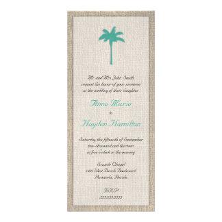 Invitación del boda de la palmera y de la arpiller